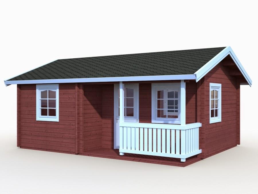 Casas de madera baratas bungalow de madera modelo sandra for Casetas jardin resina baratas