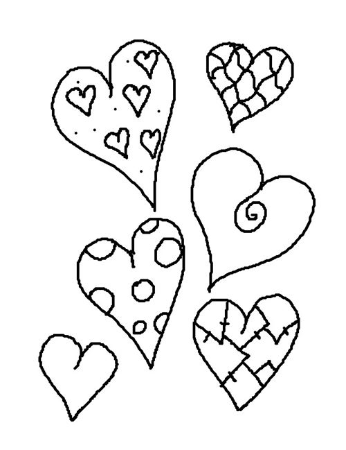 Best Free Valentine's Day Hearts Coloring Pages