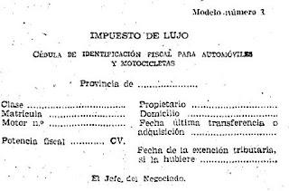 Modelo de cédula Orden 1959