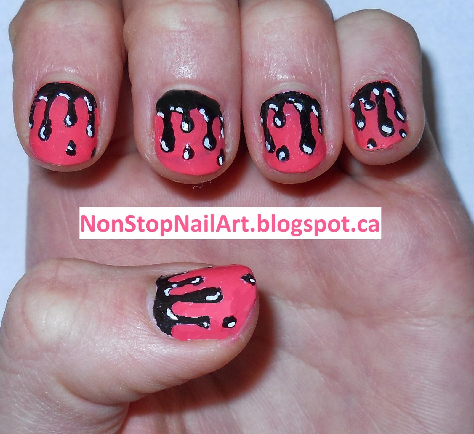 Non Stop Nail Art Drip Drop Nails