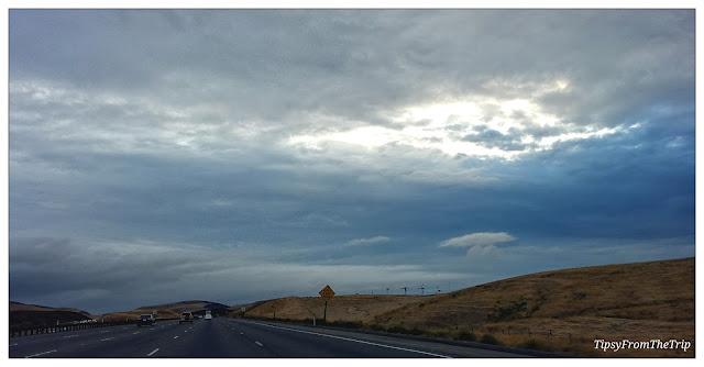Radiant clouds, Altamont, CA