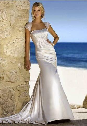 Vestido de Novia Corte con Pliegues Diagonales