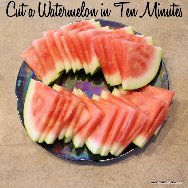 Cut a Watermelon in Ten Minutes