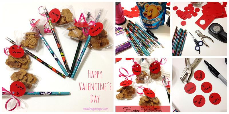 Es habitual que aquí en EEUU para el Día de San Valentín (día del amor y la amistad) los niños hagan intercambio de regalitos con sus amigos y compañeritos