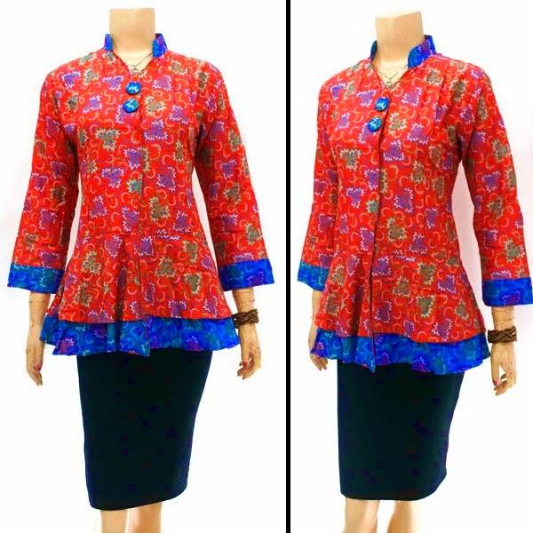 Model Baju Blus Batik