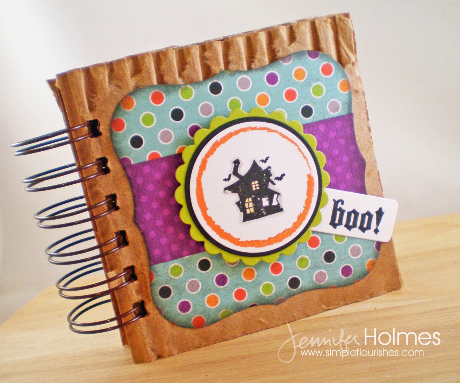 Scrapbook ideas recycled - Jennifer Holmes Created This Mini Scrapbook Album That S Super Cute For Storing Halloween Memories She Used Recycled Box And Cardstock And A Variety Of Die