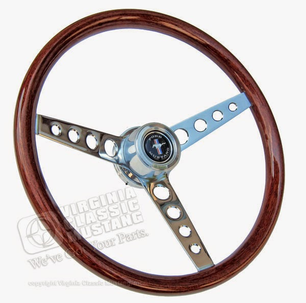 GT Classic Mustang Wood Steering Wheel
