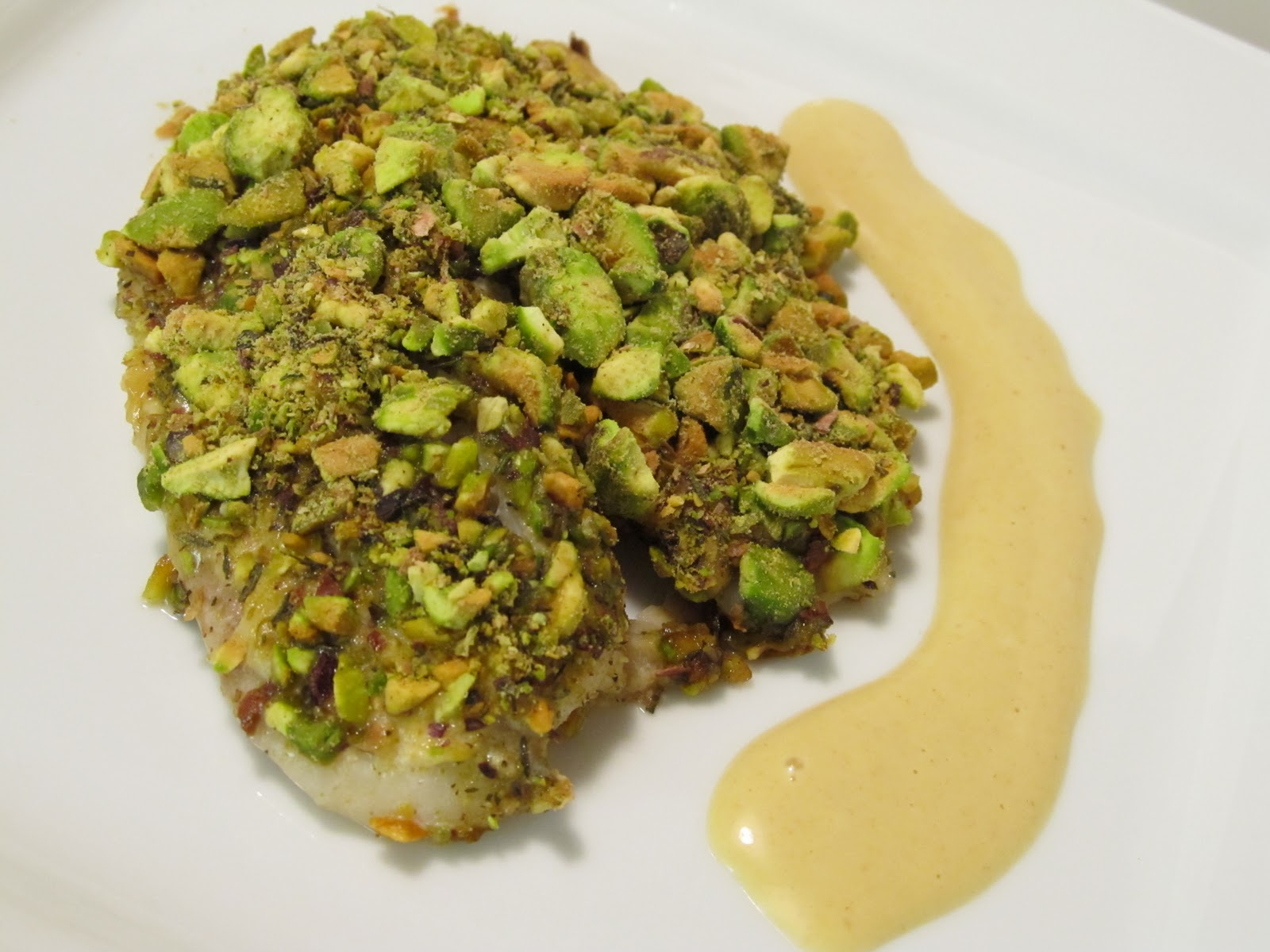 picture Pistachio Crusted Baked White Fish Fillet