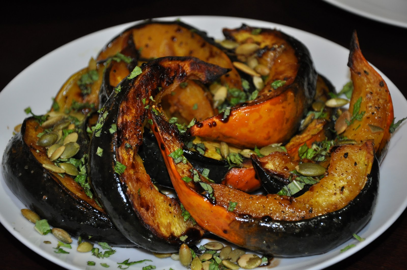 ... Roasted Squash with Mint and Toasted Pumpkin Seeds and Homemade