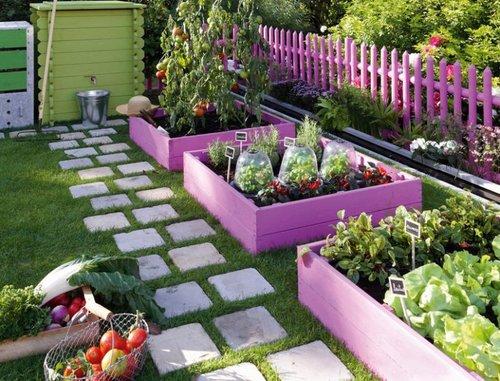 ideias jardim reciclado : ideias jardim reciclado:Purple Raised Garden Beds