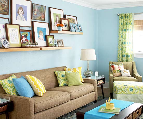 2012 blue decorating design ideas home design for Family home decor ideas