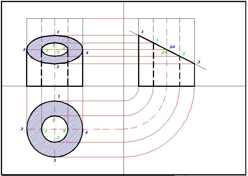 Disegno sezione cilindro cavo for Disegno di piano domestico