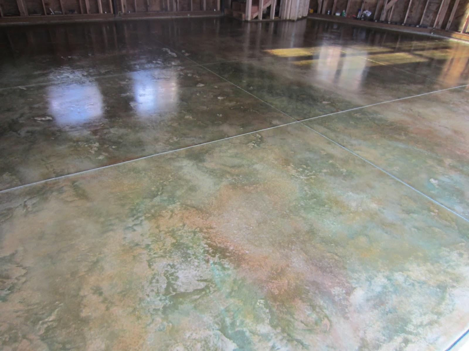 Concrete Stain And Sealer : Garage floor stain luxuryhousingtrendsa stained