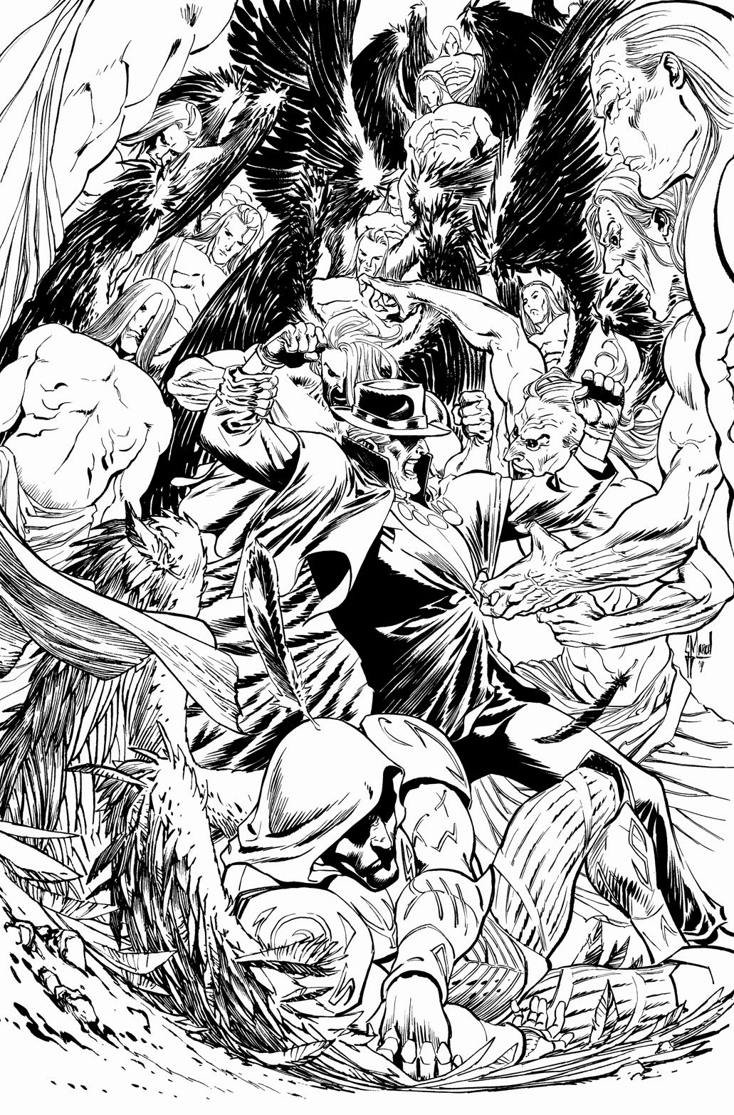 Making of a cover: PHANTOM STRANGER #21 by Guillem March