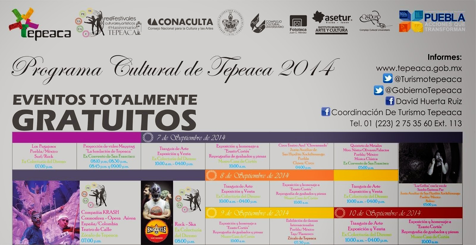 PROGRAMA CULTURAL DE TEPEACA 2014