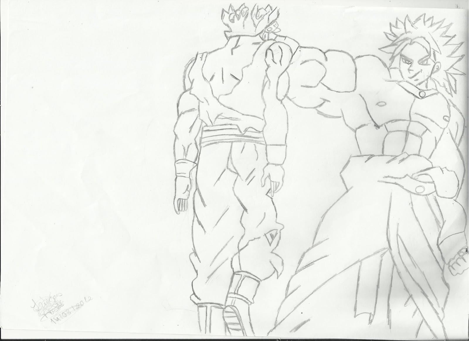 lucas desenhos goku vs broly