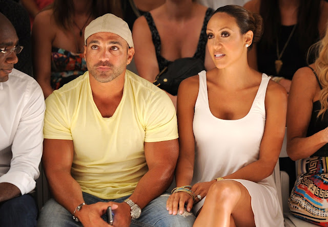Joey and Melissa Gorga ( Real Housewives of New Jersey) at L* Space at MBFWS 2014