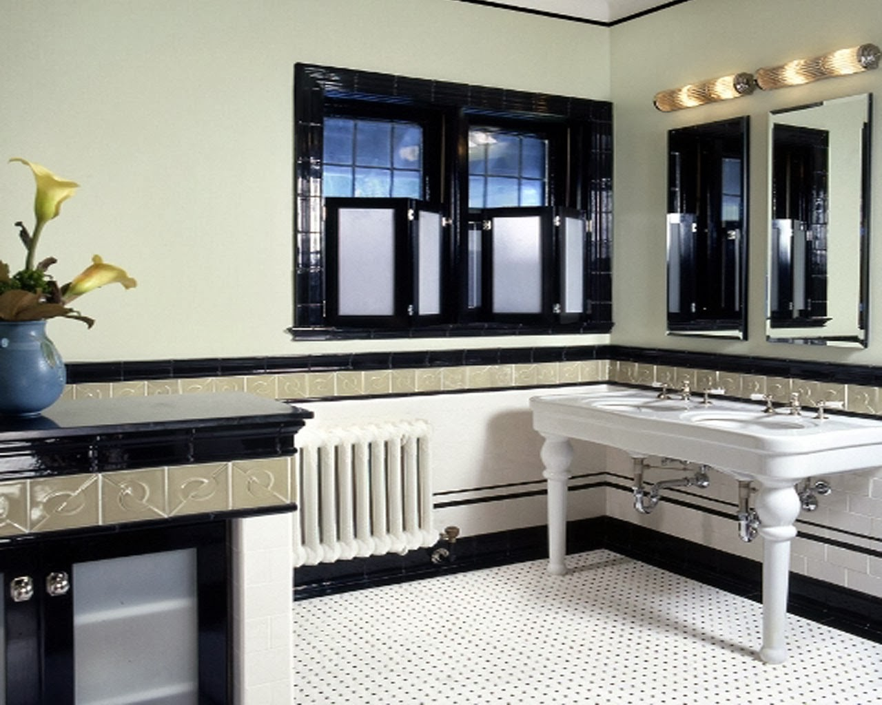 David dangerous art deco bathroom for Art nouveau bathroom design