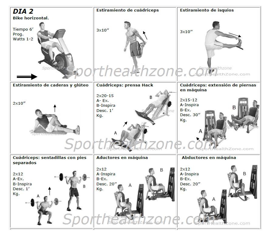 Tablas de ejercicios rutinas y tablas de gimnasio for Rutinas gimnasio