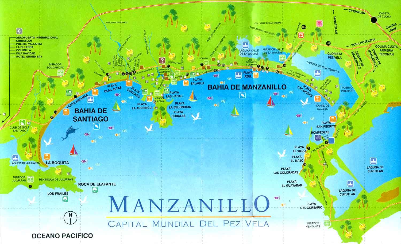 Map Of Manzanillo Mexico Manzanillo Colima Pinterest Mexico