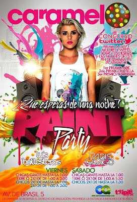 Paint Party en discoteca Caramelo