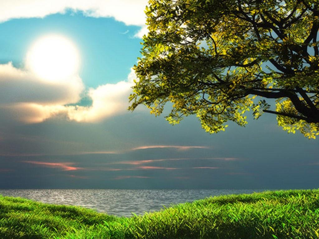 Wallpaper Pemandangan Danau Sunset Indah Terbaru Almagalangi Indo