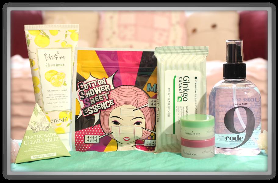 겟잇뷰티박스 by 미미박스 memebox beautybox Special #70 Cleanse & Tone box unboxing review look inside