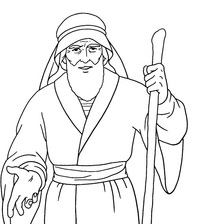moses staff coloring pages - photo#8