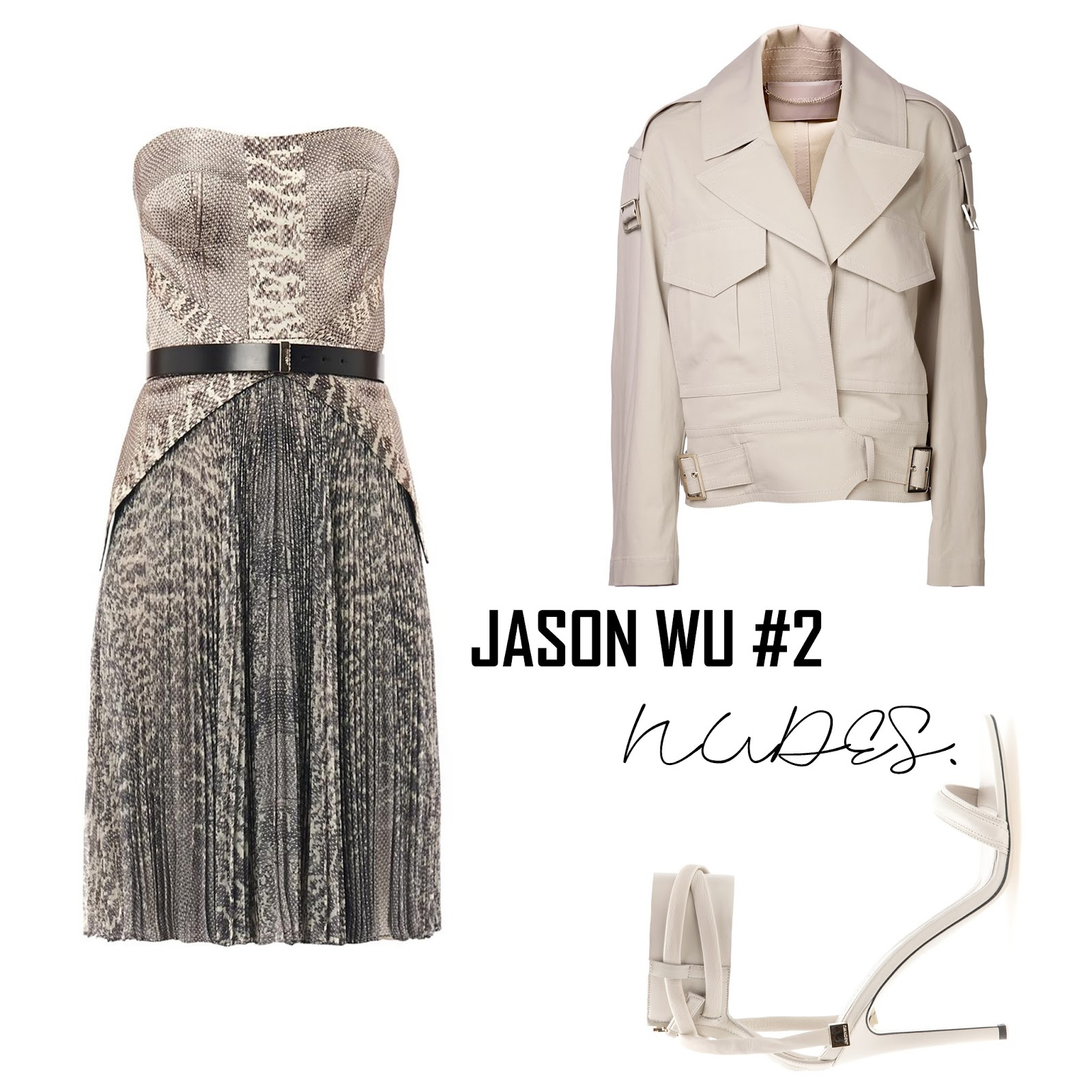 jason wu clothes, outfit, snake print, nudes, styling, blogger