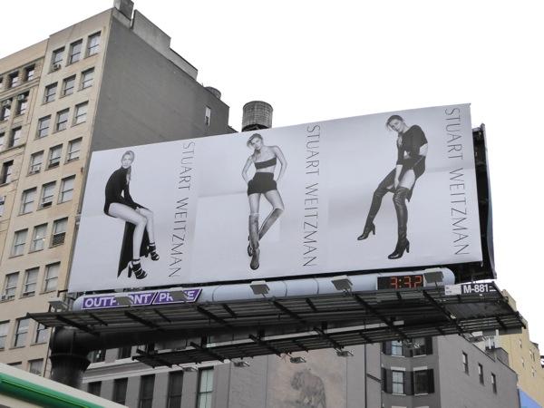 Stuart Weitzman Gisele Bundchen FW15 billboard NYC
