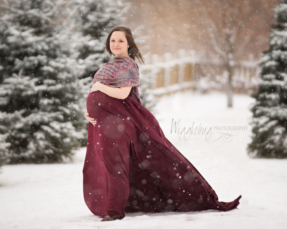 Experimental Farm Winter Maternity Photos Ottawa Ontario