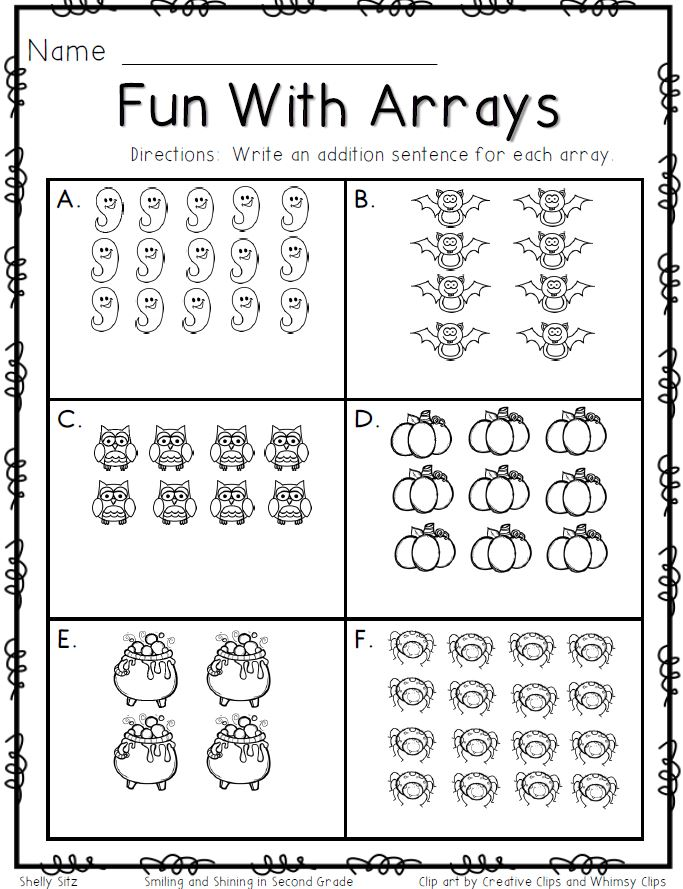 Multiplication Arrays Worksheet properties worksheets – Multiplication Using Arrays Worksheet