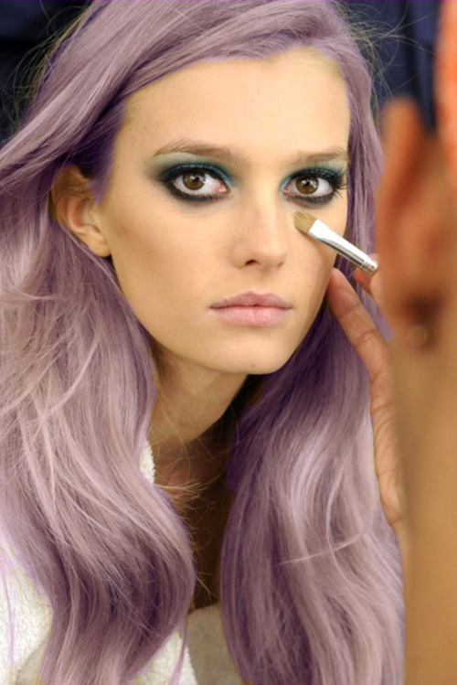 Anything With Studs (BEAUTY) INSPIRATION STATION PURPLE HAIR DONu0026#39;T CURRRR