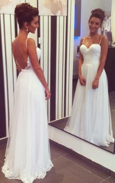 Anna Balklänning Brudklänning med öppen rygg