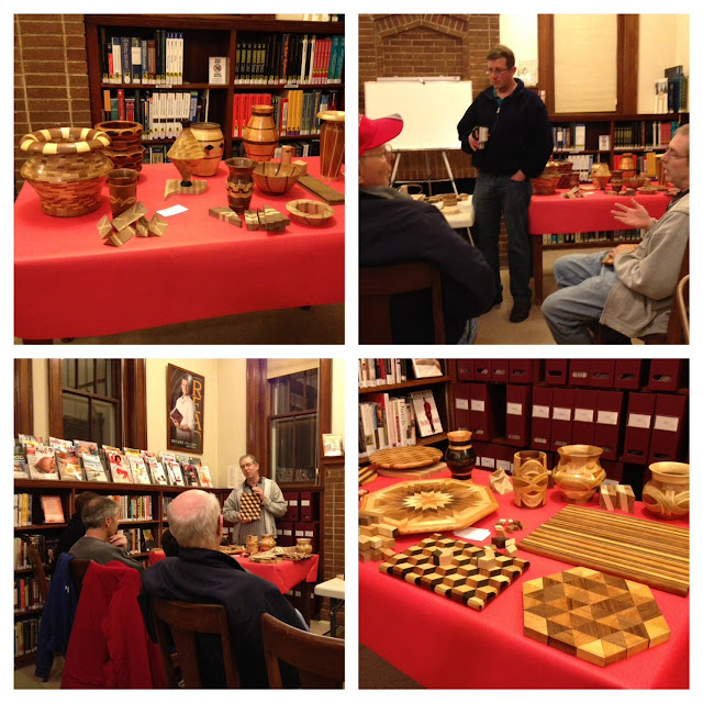 photos from woodworking presentation