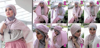 model jilbab pasmina untuk pesta