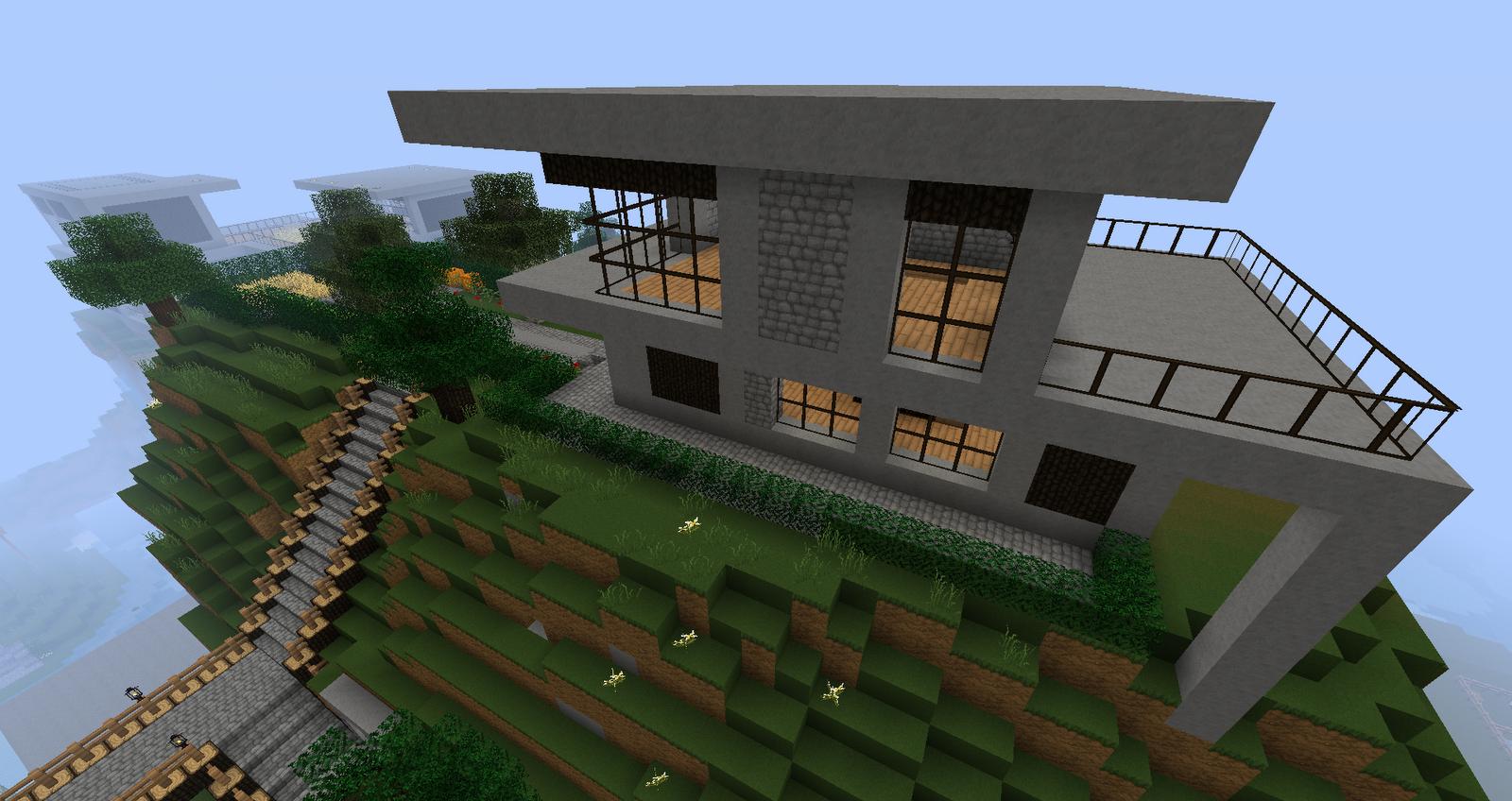 Ruked On Minecraft Modern House Schematics 02 Small