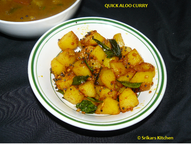 QUICK ALOO CURRY- POTATO PORIYAL