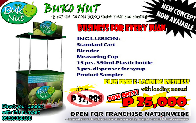 BUKO NUT DRINK FRANCHISE