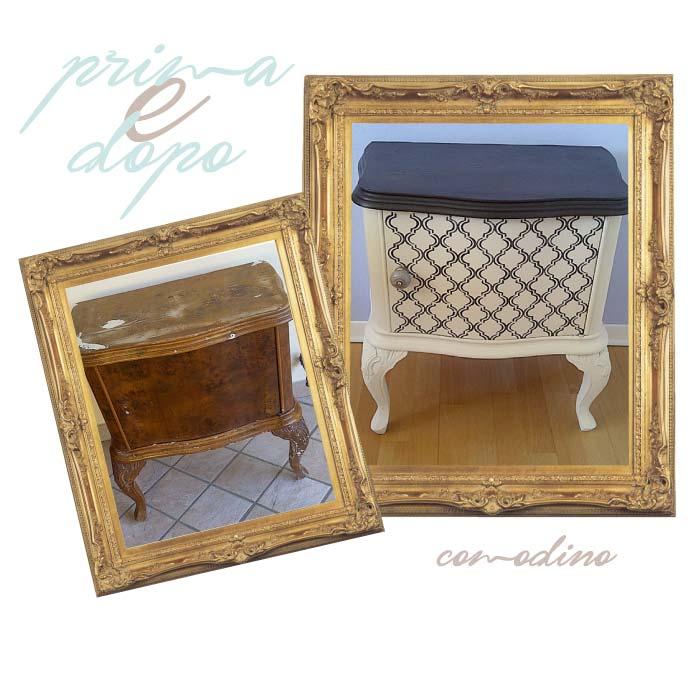 restyling di comodino con stencil marocco