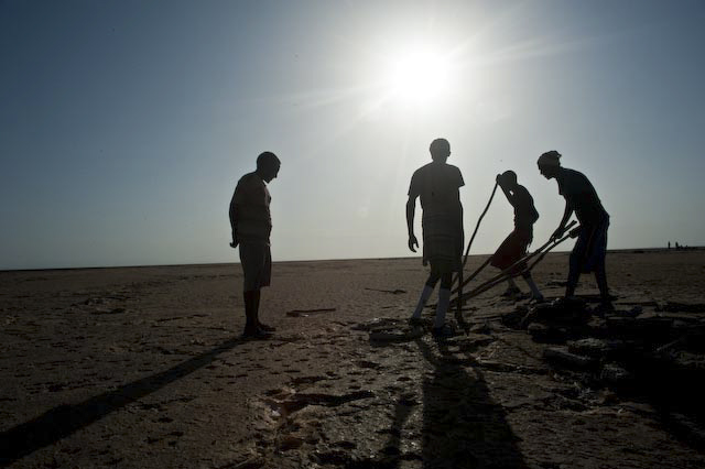 Photograph of salt miners in Berehale, Afar, Ethiopia by Ethiopian photographer Michael Tsegaye