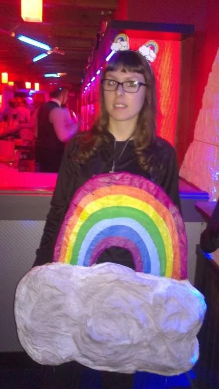 Crgc DIY disfraz arco iris rainbow costume