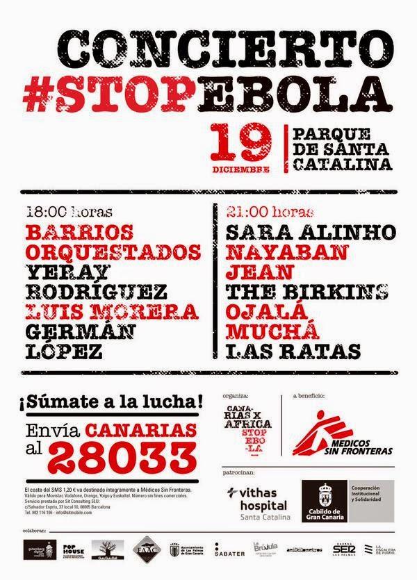 Concierto  Stop Ébola, parque santa catalina
