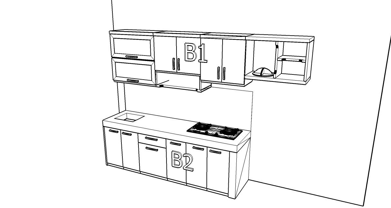 Kitchen Set Lurus Minimalis Dengan Tempat Sampah Kitchen Set Semarang
