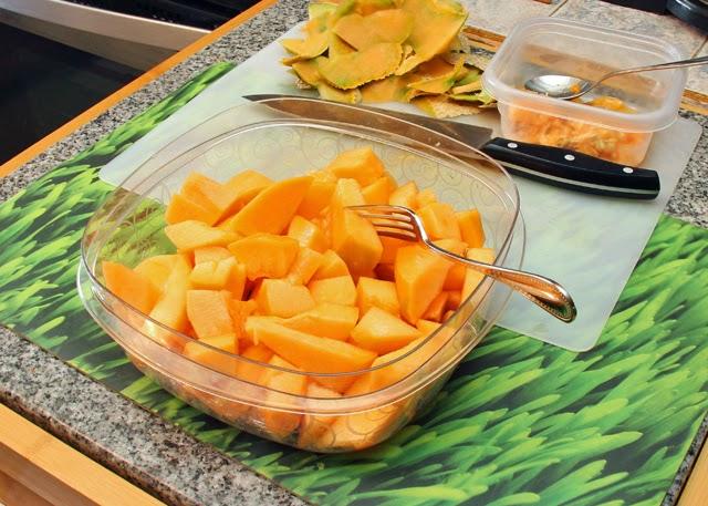 Cantaloupe chunks.