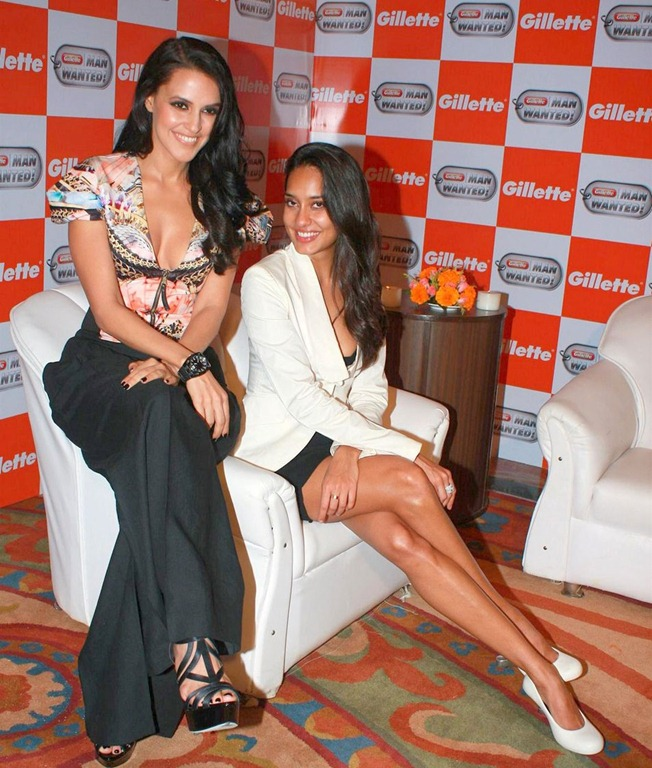 Neha Dhupia and Lisa Hayden1 - Neha Dhupia and Lisa Hayden at Gillette event
