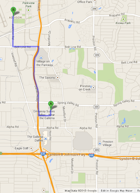 Addison Circle Park is 6 min/2.5 miles from Embassy Suites Dallas Near the Galleria