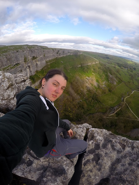 Nic hilditch-Short, Nicola Hilditch, Malham, Malham cove, climbing, sport climbing, limestone, waterfall, Yorkshire, Yorkshire dales, Harry Potter, Deathly Hallows, Adventure, natural beauty, hike, outdoors, Go Pro, Limestone pavement, crack,