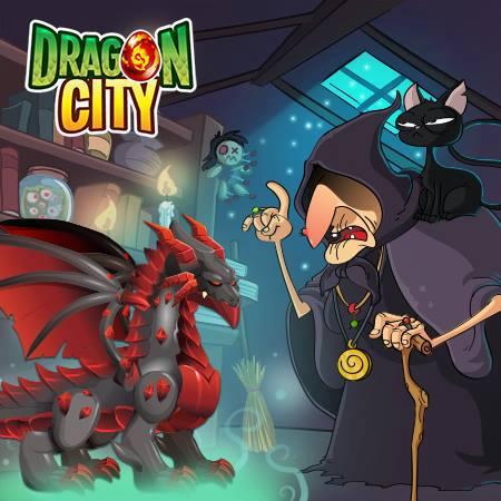 imagen del dragon obsidian en el mercado negro de dragon city