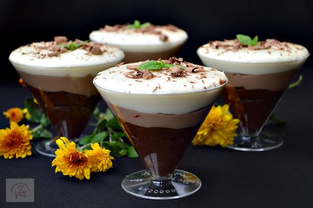 Trio de ciocolata la pahar